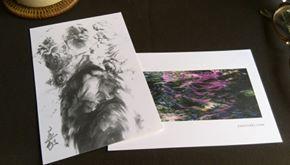 水神のポストカード(左)